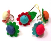 Pin Cushion Flower Ring