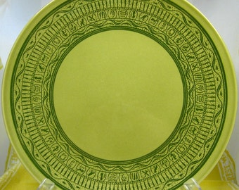 "Two Rare 1960s Taylor Smith & Taylor (TST) ""Oasis Green"" Dinner Plates: Dinner in the Desert"