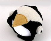 Baby Penguin Knitted Hat, Handmade Baby Costume - to fit up to 12 months old