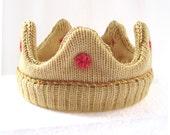 Mini Knitted Crown, Handmade Royal Baby Gift
