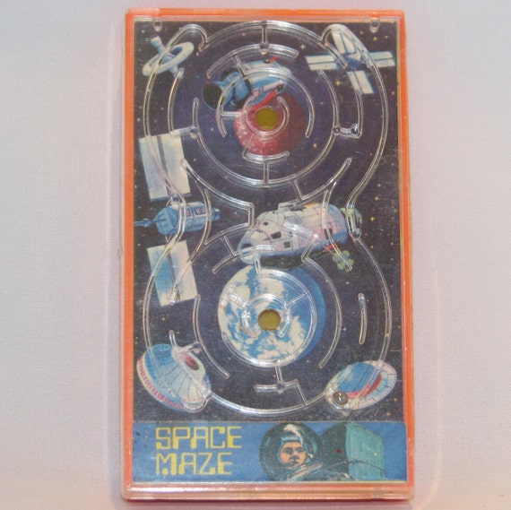 Vintage 1970s Handheld Space Maze Game