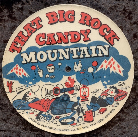 Vintage Childs 78 rpm Record - Git Along Little Doggie and That Big Rock Candy Mountain