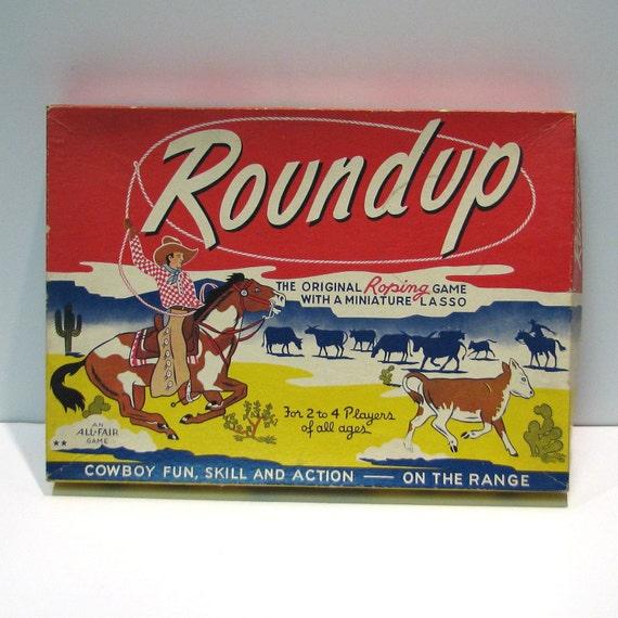 Vintage 1946 Roundup Game - The Original Roping Game