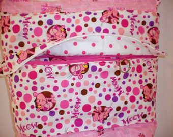 Hand Crafted By Maggie-  The  Crossbody Bag -Pink Panther-FREE Shipping in USA.