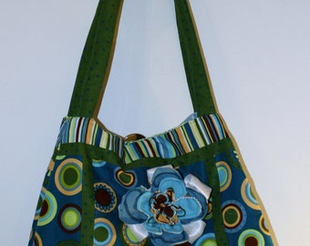 Hand made by Maggie- Cute  Messenger Crossbody -Laptop Bag-  Silly Circle Patchwork Bag- Sale.