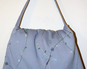 Hand Made Maggiesbag with than onr Use.with Dragon Flies-Spring Sale
