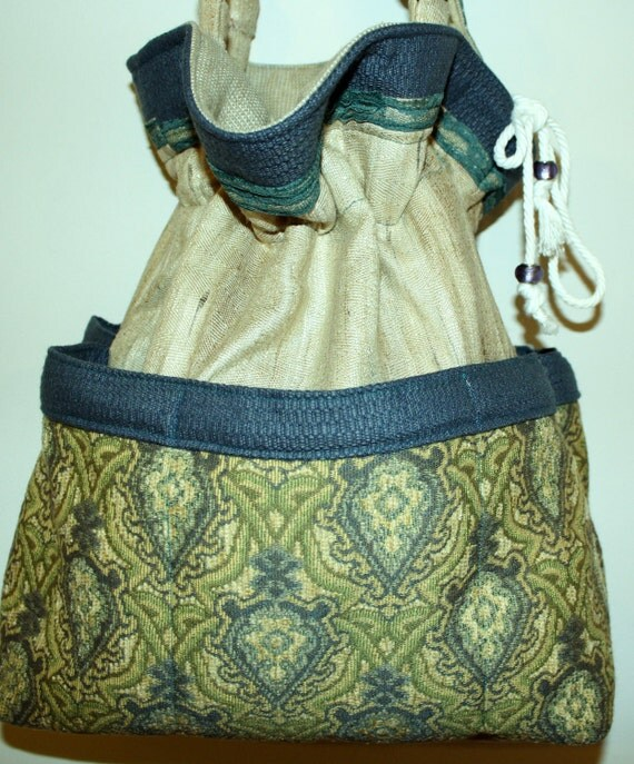Hand Crafted By Maggie  Beauitful hobo- Hippie-  Messenger- Crossbody Bag  Easter Sale.