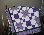 Pink and Purple Lap Quilt