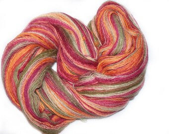 Autumn Leaves - handspun self-striping lace yarn (900 yards)