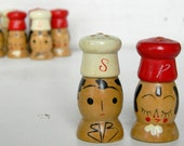 pair of vintage japan salt and pepper shakers