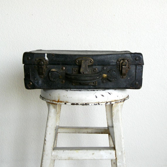 vintage wallpaper contractor suitcase and supplies