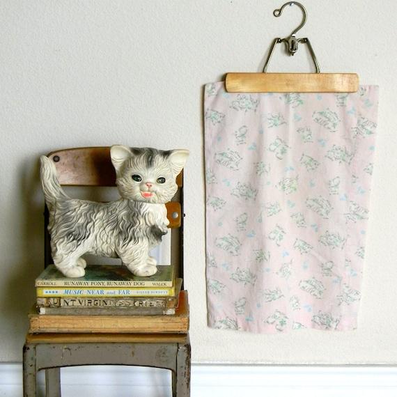 vintage kitten baby pillow case