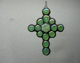 Stained glass nugget cross