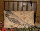 Primitive Crow Pillow Tuck