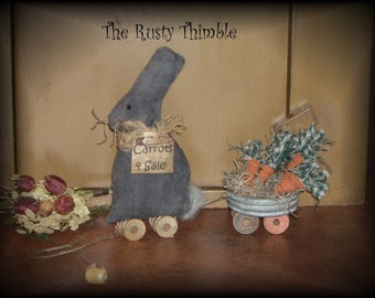 Rabbit And Cart PullToy