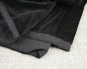 Vintage Fabric Velveteen Black