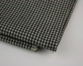 Vintage Fabric Black Cream Houndstooth Suiting