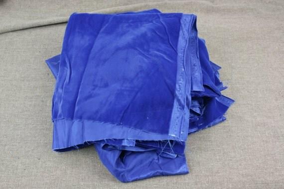 Vintage Fabric Velvet Royal Blue