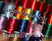 Custom Embroidery and Personalization for SPECIAL ORDER Bratenella doll