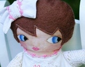 Bratenella Antique Vintage Linen and Lace Art Doll OOAK