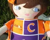 Bratenella CLEMSON fan art doll