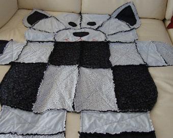 rag blanket cats