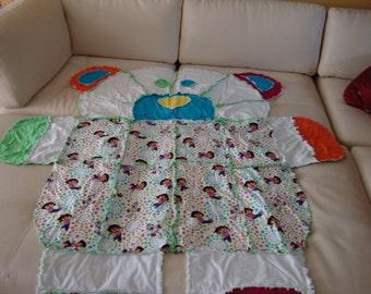 rag blanket Dora