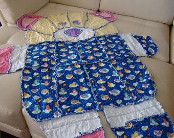 rag blanket care bears