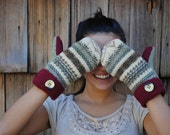 DIY- Mitten Tutorial and Pattern- Made from recycled sweaters- Fun & Beautiful