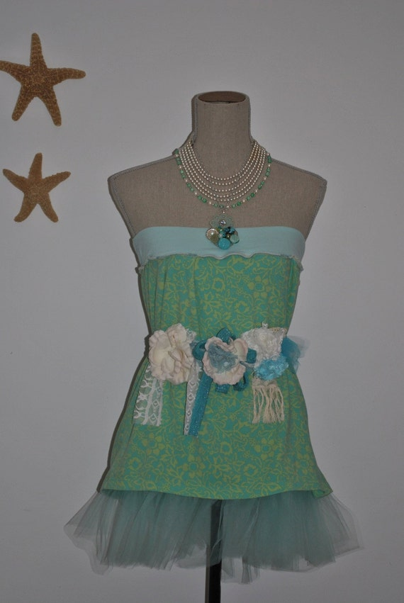 Two-fers Strapless babydoll Tunic can also work as a tutu skirt- Designed by Gina Louise