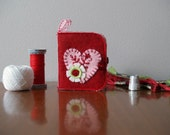 Pink Heart Sewing Needle Book