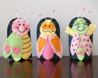Love Bug Finger Puppet Set