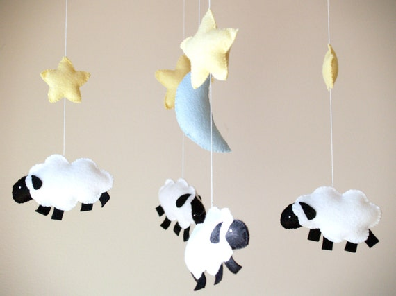 Stars and Sheep Baby Mobile