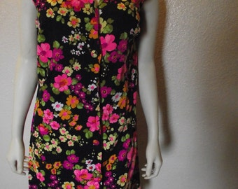 Vintage Bright floral Mod 60's Dress