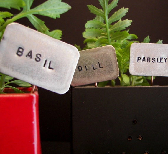herb signs metal choose different herb names very cute for your garden