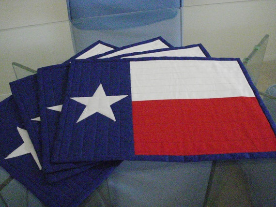 Quilted Lone Star Placemats Set of 4
