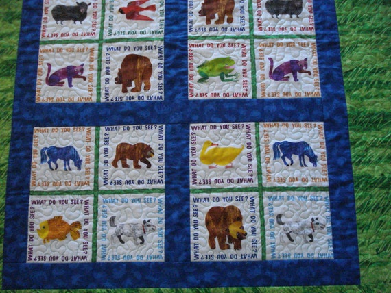 Brown Bear Crib  Quilt