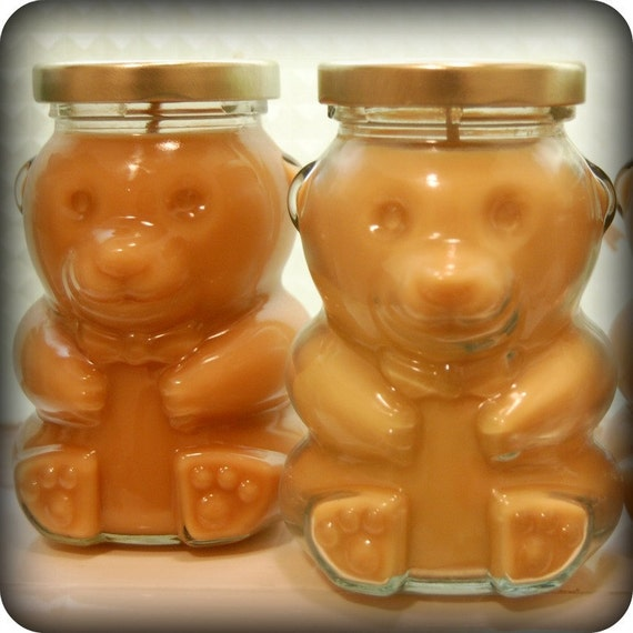 Honey Bear Soy Candle in Milk & Honey Scent