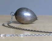 Vintage Sterling Silver Acorn Pendant