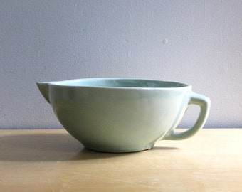 Vintage Pale Green Stoneware Mixing Bowl