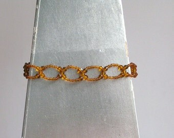 Vintage Amber Glass Bead Choker