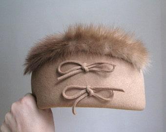 Vintage Variety Wool and Fur Hat
