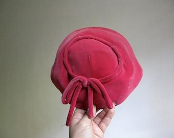 Gimbels Pink Velvet Hat