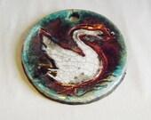 Swan Ornament, Raku