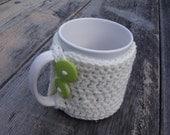 Crochet Mug Cozy - Cream - MADE TO ORDER