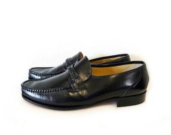 Men's Shoes Nunn Bush Black Leather Slip On Loafers Slip On Dress Shoes Mens 10.5