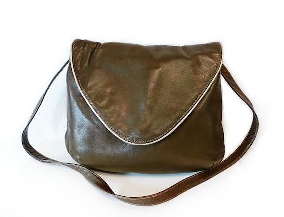 Vintage Bag JOSEPH MAGNIN Made in Italy Leather Crossbody Bag Shoulder purse Handbag