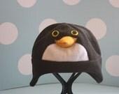 Penguin Fleece Aviator Style Hat