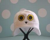 Snowy Owl Fleece Hat - Adult Medium - 23 inches