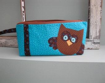 Hoot Toot Owl Travel Bag / Makeup Bag / Pencil Case - PDF Pattern
